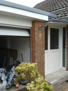 Garage and front entrance